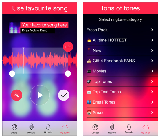 Ringtones for iPhone Free from Byss Mobile
