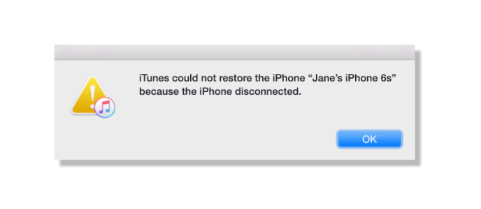 How to Fix iPhone Disconnected Error When Restore iPhone with iTunes