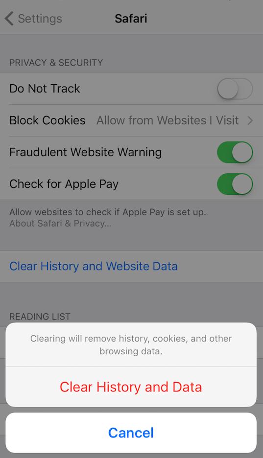 How to Delete Safari Data on iPhone 7/7 Plus