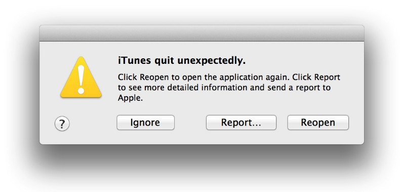 iTunes Keeps Crashing
