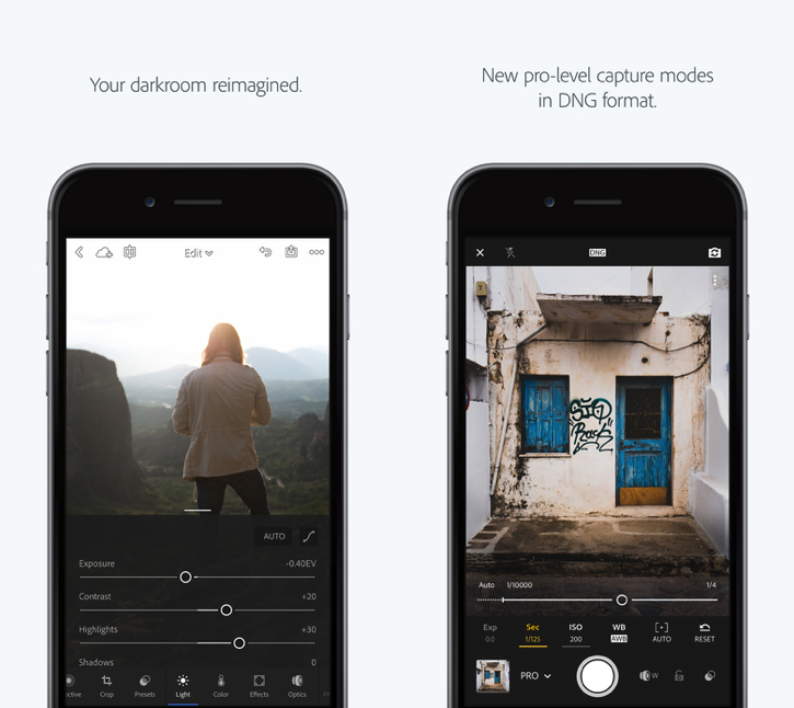 Best Photo Editing Tools for iPhone - Lightroom