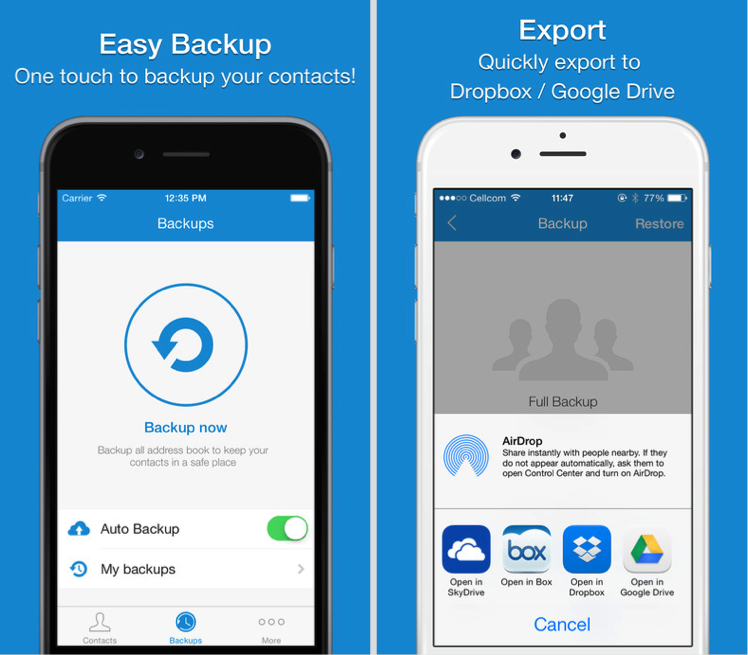 Top 5 Free IPhone Contacts Backup Apps To Keep Your IPhone