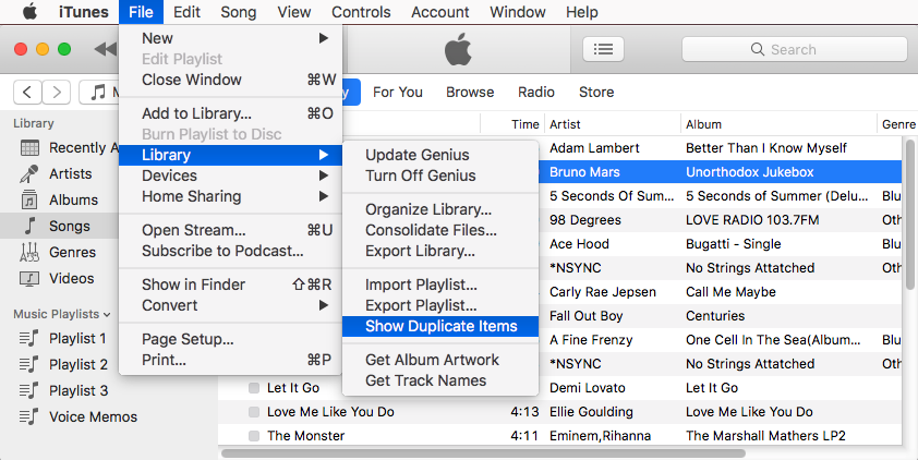 How to Find Duplicate Items in iTunes 12.5