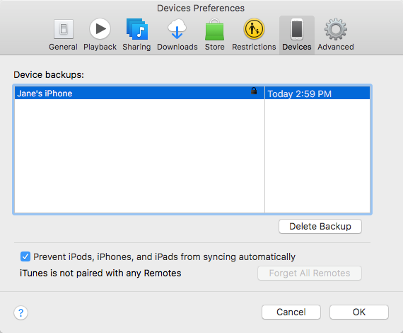 How to Check iTunes Backup