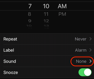 iPhone Alarm Sound