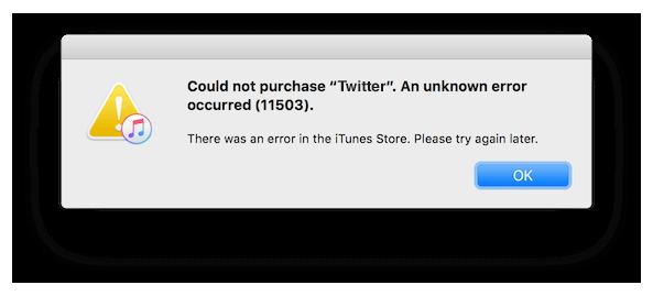iTunes Error 11503