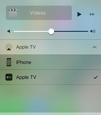 AirPlay Streaming Vidoes in iOS 10