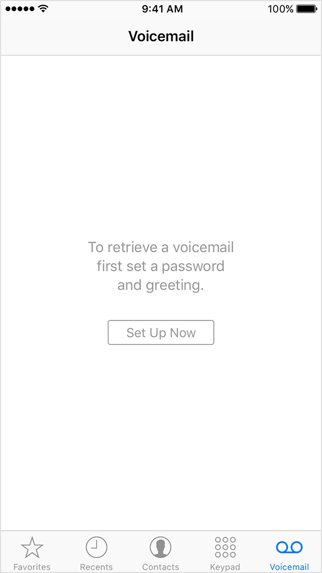 Set up voicemail on iPhone 7