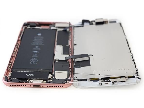 iPhone 7 LCD screen and logic board